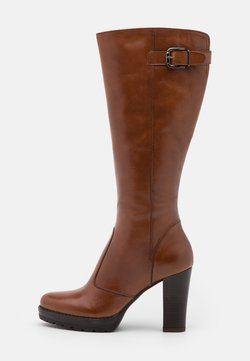 Anna Field - LEATHER - High heeled boots - cognac