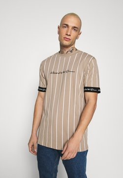 Kings Will Dream - CLIFTON - T-Shirt print - light brown/white