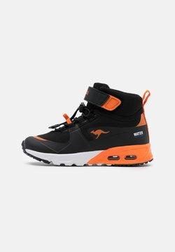 KangaROOS - KX-HYDRO - Sneakers hoog - jet black/neon orange