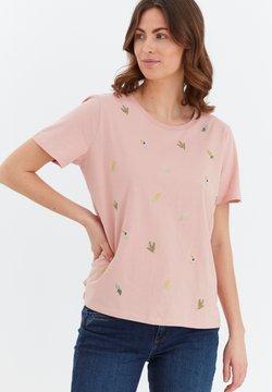 Fransa - MIT STICKEREI - T-Shirt print - misty rose