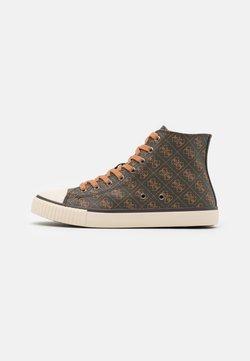 Guess - EDERLE  - Sneaker high - brown/ocra