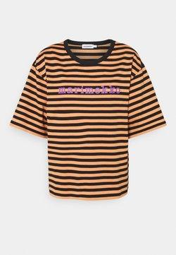 Marimekko - ENSILUMI LOGO TASARAITA - T-Shirt print - dark orange/black/purple