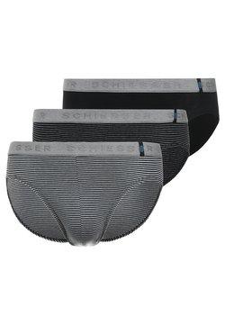 Schiesser - RIO 3 PACK - Slip - mottled grey/black
