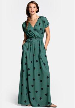 HotSquash - Maxikleid - black polka dots on green