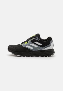 adidas Performance - TERREX TWO FLOW - Zapatillas de trail running - core black/crystal white/solar yellow