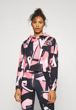 ONLY PLAY Tall - ONPMAUREEN SHORT HOOD - Hoodie - black/strawberry pink
