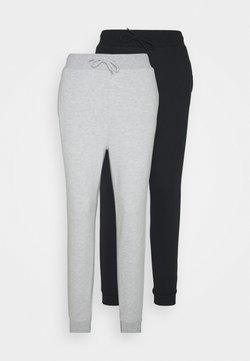Even&Odd - 2 PACK - Jogginghose - mottled light grey/black