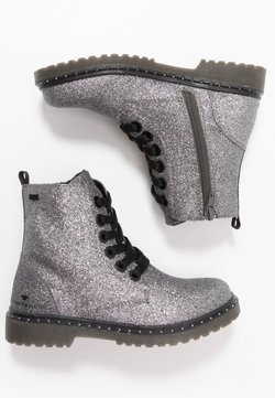 TOM TAILOR - Bottines à lacets - silver