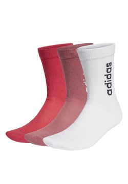 adidas Performance - HALF-CUSHIONED VERTICAL CREW SOCKS 3 PAIRS - Sukat - white