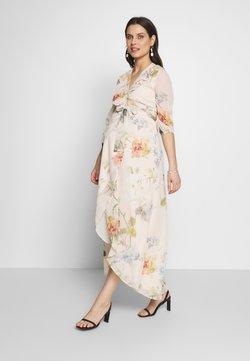 Hope & Ivy Maternity - SLEEVE WRAP DRESS - Maxiklänning - blush