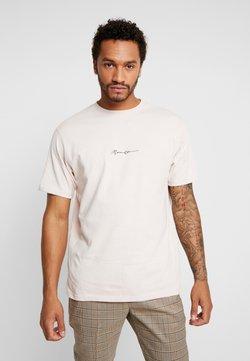 Mennace - ESSENTIAL SIG UNISEX - T-Shirt basic - beige
