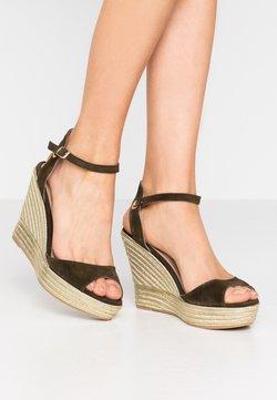 San Marina - MEIA - Sandalen met hoge hak - kaki