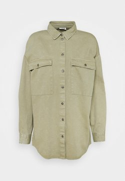 Noisy May - NMFLANNY LONG SHACKET - Camicia - oil green