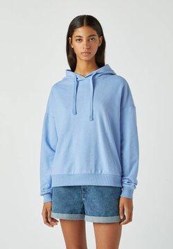 PULL&BEAR - MIT KAPUZE - Kapuzenpullover - blue