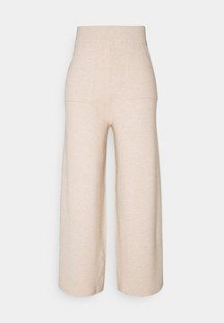 Fashion Union Tall - DORY WIDE TROUSER - Broek - beige mark