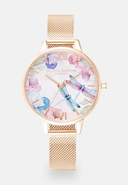 Olivia Burton - PAINTERLY PRINTS - Rannekello - rosegold-coloured/white