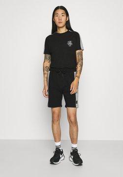 Brave Soul - ALEX - T-Shirt print - jet black/light grey marl