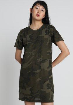 Urban Classics - LADIES CAMO TEE DRESS - Vestido ligero - olive