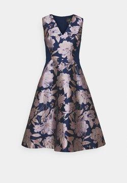 Adrianna Papell - FLORAL COMBO DRESS - Vestido de cóctel - navy/blush