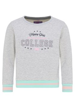 myMo KIDS - Sweater - grau melange mint