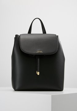 Lauren Ralph Lauren - SUPER SMOOTH FLAP - Rucksack - black/crimson