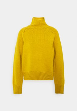 Marc O'Polo - LONGSLEEVE STAND UP - Strickpullover - mellow curry