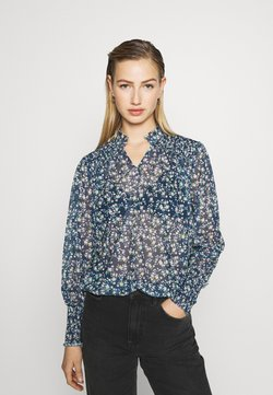 Even&Odd - PRINTED BLOUSE - Bluse - blue