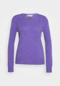 pure cashmere - V NECK - Neule - iris heather