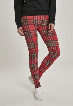 Urban Classics - Leggings - Hosen - red/black