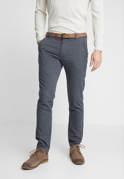 TOM TAILOR DENIM - STRUCTURED - Chinot - black/grey