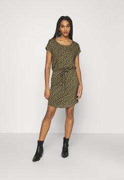 ONLY - ONLMILLIE BELT DRESS - Jerseykleid - kalamata/gold