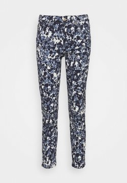 7 for all mankind - ROXANNE ANKLE FLOWER FIELD - Jeans Skinny Fit - blue