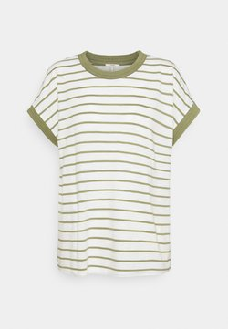 Esprit - TEE POINTEL - T-Shirt basic - light khaki