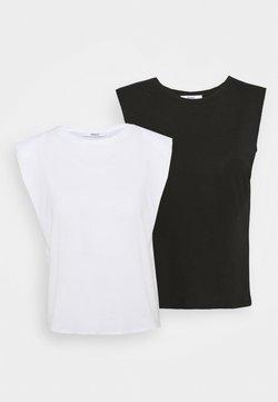 ONLY Petite - ONLPERNILLE 2 PACK - Camiseta básica - black/white