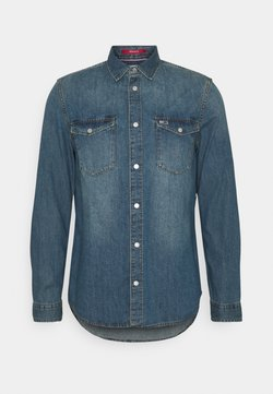 Tommy Jeans - WESTERN SHIRT - Camicia - mid indigo