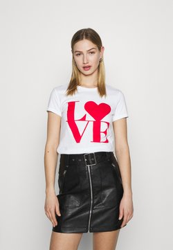 ONLY - ONLLOVE LIFE FIT BOX - T-Shirt print - bright white