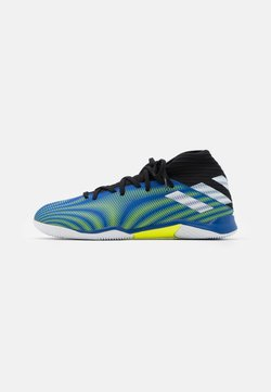 adidas Performance - NEMEZIZ .3 IN - Indoor football boots - royal blue/footwear white/solar yellow