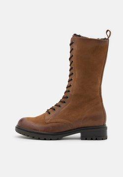 Anna Field - LEATHER - Platform boots - cognac