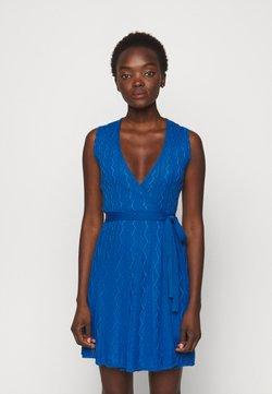 M Missoni - ABITO SENZA MANICHE - Vestido de punto - blue