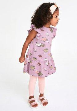 Next - DINOSAUR RUFFLE - Jerseykleid - purple