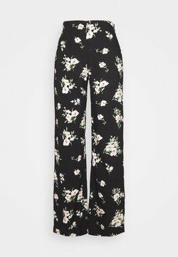 Vero Moda - VMSIMPLY EASY WIDE PANT  - Pantalon classique - black