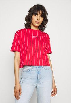 Karl Kani - SMALL SIGNATURE SHORT PINSTRIPE TEE - T-Shirt print - red