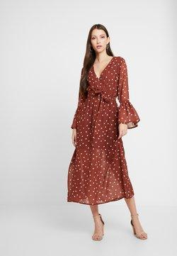 Wednesday's Girl - WRAP FRONT MAXI DRESS - Vestido largo - brown/white