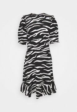 Marks & Spencer London - FRILL SKATER MINI - Sukienka letnia - black
