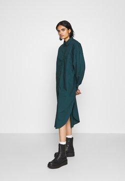 Monki - CAROL DRESS - Blusenkleid - dark green