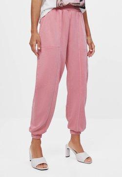 Bershka - Spodnie treningowe - pink
