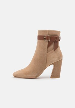 Anna Field - LEATHER - High heeled ankle boots - beige
