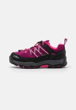 CMP - KIDS RIGEL LOW TREKKING SHOES WP - Obuwie hikingowe - berry/pink fluo