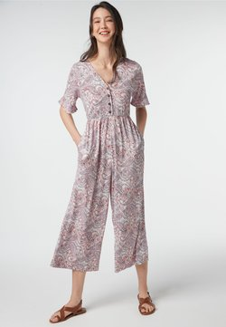 Next - PAISLEY PATTERN CRINKLE - Jumpsuit - white