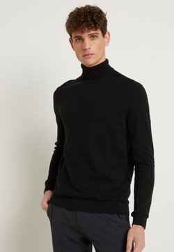 Selected Homme - SLHBERG ROLL NECK - Pullover - black